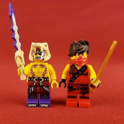 2015 Genuine Lego 70756 Ninjago Minifigures Kai and Sleven Minifigs