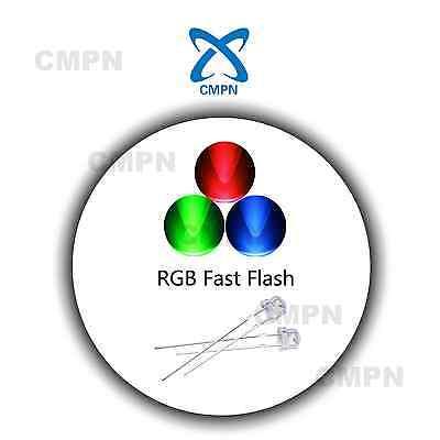 100Pcs 5mm Straw Hat RGB Fast Flash LED Light Emitting Diode Clear Bright Lights - Straw Hats Cheap