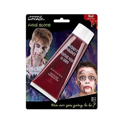 100ml falsch rot Vampir Zombie Blood Rohr SFX Make-Up Artist Halloween Zubehör - Artistic Makeup Halloween