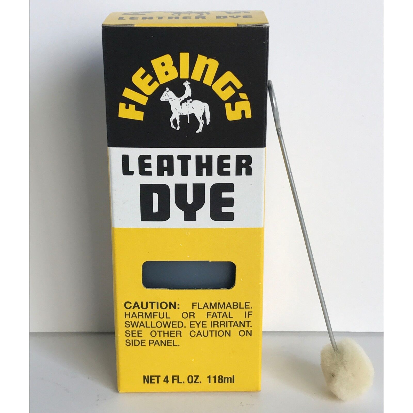 FIEBINGS Medium Brown Leather Dye 4 oz. with Applicator for Shoes Boots Bags NEW Crafts