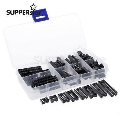 66pcsset Dip Ic Sockets Adaptor Solder Type Kit 6 8 14 16 18 20 24 28pin Ass