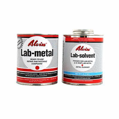 Alvin 24 Oz Lab Metal 16 Oz Lab Solvent Dent Filler Patching Compound Epoxy