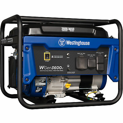 Refurbished Westinghouse Wgen3600v Gasoline Powered Portable Generator