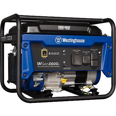 Refurbished Westinghouse Wgen3600v Gasoline Powered Portable Generator