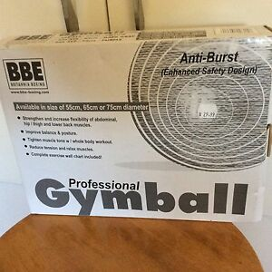 Gymball  size 55 Yellow NEW in box Gowrie Tuggeranong Preview