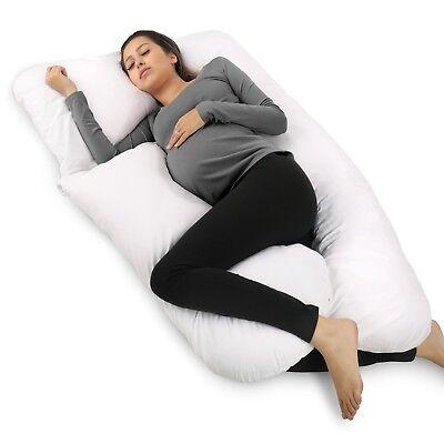 PharMeDoc Full Body Pillow, U Shaped Pregnancy Pillow & Maternity Support