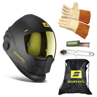 Esab Sentinel A50 Automatic Welding Helmet  Bag  Tig Glove  Striker  Tip Cleaner