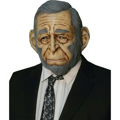 Simian Monkey President Bush DELUXE ADULT LATEX GW OF THE APES MASK