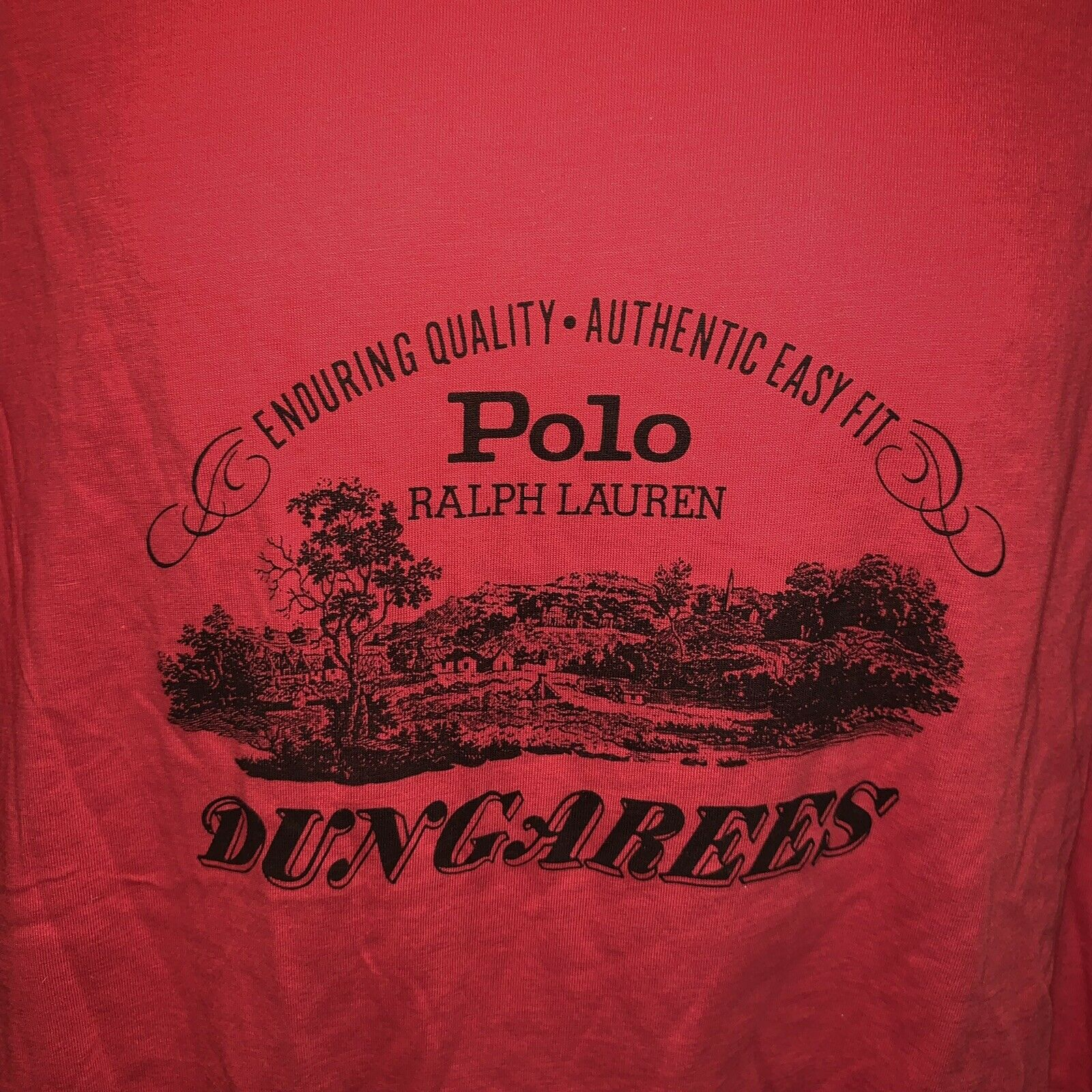 VTG Polo Ralph Lauren Polo Dungarees Graphic T Shi