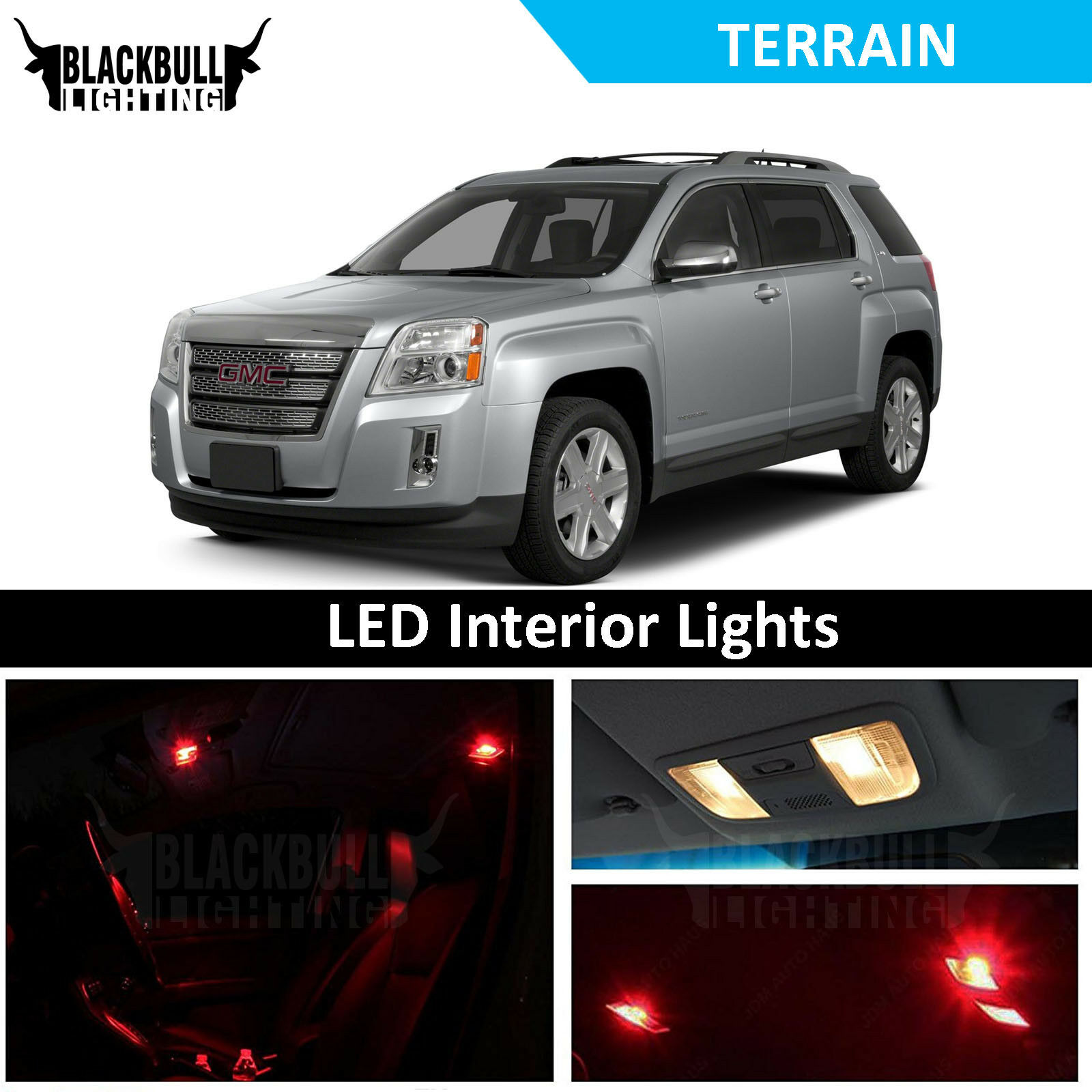 Red Led Interior Lights Accessories Package Kit Fits 2010 2017 Gmc Terrain Ebay