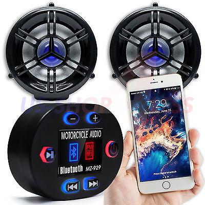 Waterproof Bluetooth Motorcycle Handlebar Audio Stereo Speaker System MP3 Radio
