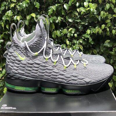 6282dff53e Nike LeBron 15 XV KSA Air Max 95 PE Neon Grey Green Black [AR4831-001] Size  11.5