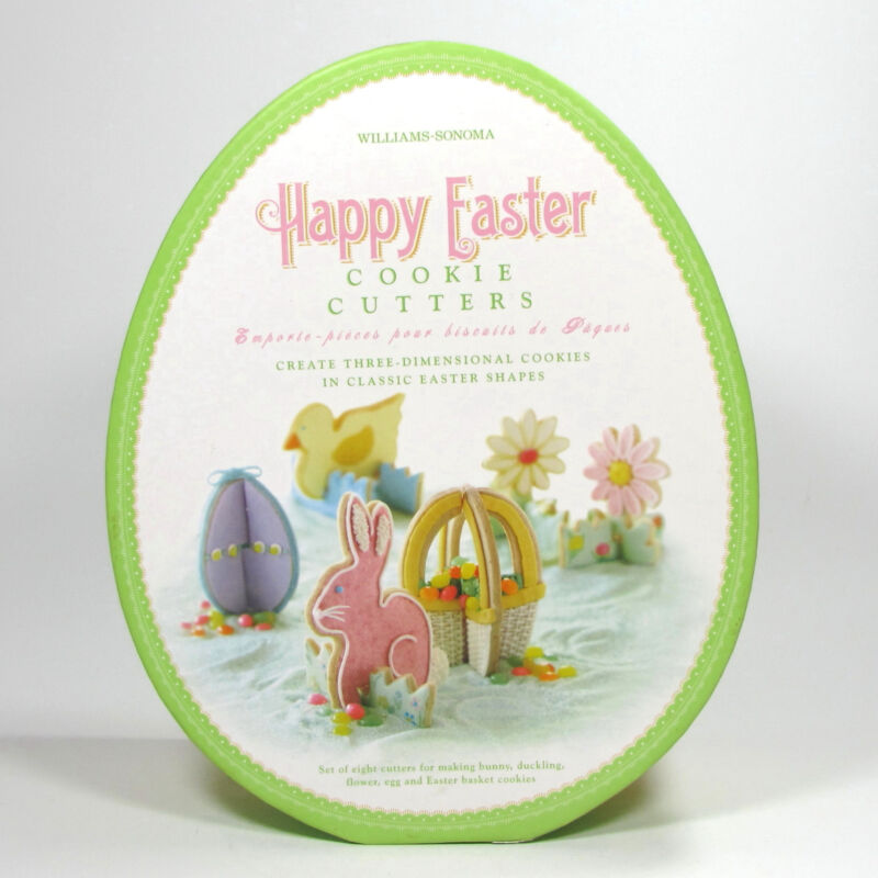 Williams-Sonoma Happy Easter Three Dimensional Cookie Cutter Set 8 Piece MIB