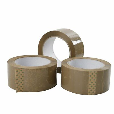 BROWN- 2-MiL 72 ROLLS - 2 INCH x 110 Yards Packing Sealing Carton Package Tape