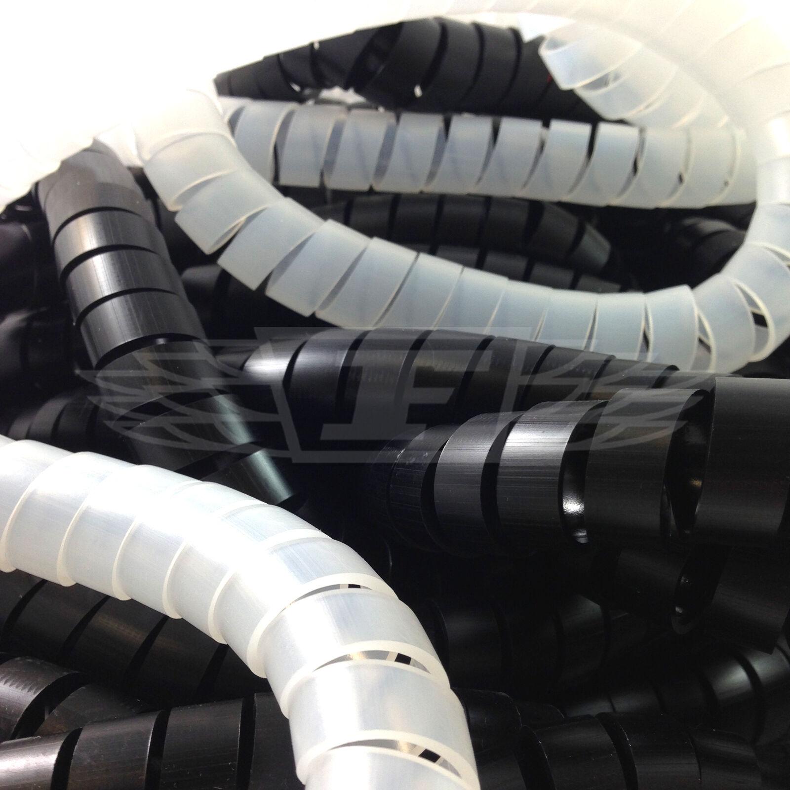 WIRE BINDING ORGANISER SPIRAL WRAP HEATSHRINK 6-30mm BLACK CABLE TIDY