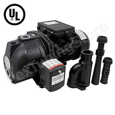 1 Hp Convertible Shallow Or Deep Well Jet Pump W Pressure Switch 115230v Ul