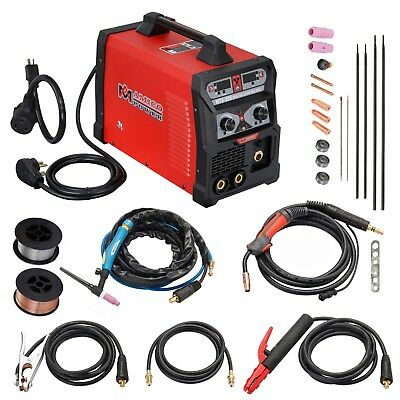Mts-205 Amp Mig Flux Cored Wire Tig Torch Stick Arc Welder 3-in-1 Combo Welding