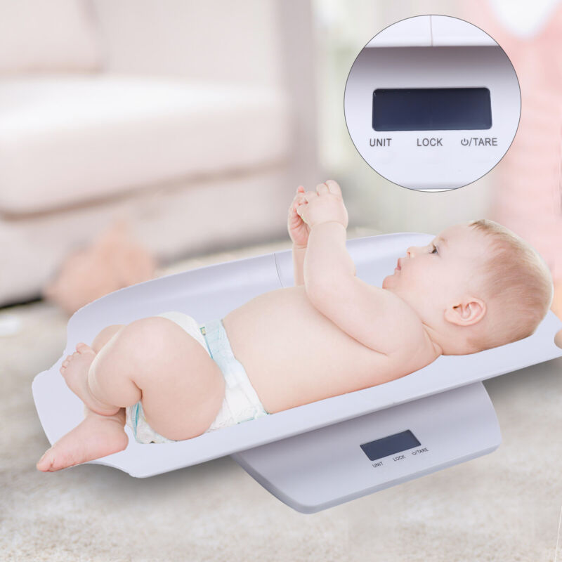 100Kg Split Electronic Mother&Baby Pet Children Weight Scale+Measuring Ruler New