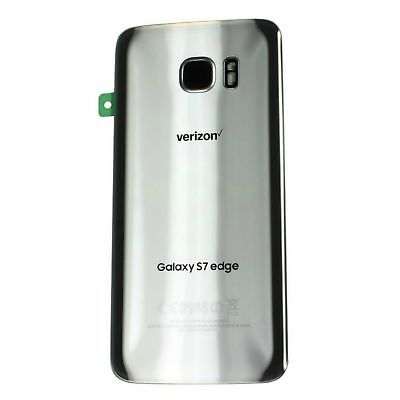 Verizon Housing - Samsung Galaxy S7 edge Verizon G935V Camera Cover Back Door Glass Housing Silver