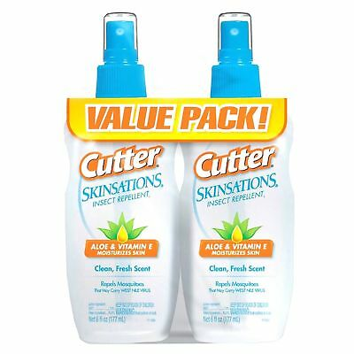 Cutter Skinsations Insect Mosquito Repellent 6oz Pump Spray 7% DEET (Twin (Cutter Insect Repellant)