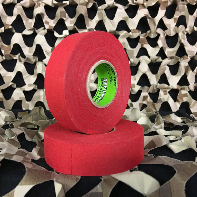 NEW Renfrew Cloth Colored Hockey Tape Paintball Tank Grip - Red (2 Pack)