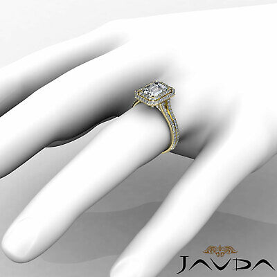 Double Halo Pave Split Shank Emerald Diamond Engagement Ring GIA H VS2 2.6 Ct 9