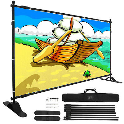 Banner Stand 10'X8' Adjustable Support Commercial Telescopic Show -