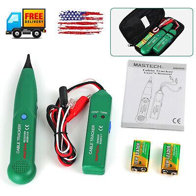 New Ms6812 Rj11 Cable Finder Tone Probe Tracker Wire Network Tester Tracer Kit