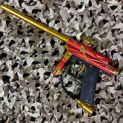 NEW Azodin Blitz 3 Electronic Paintball Gun Marker - Orange/Yellow