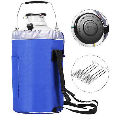 3l Liquid Nitrogen Tank Cryogenic Container W Bag Dewar Tank Semen