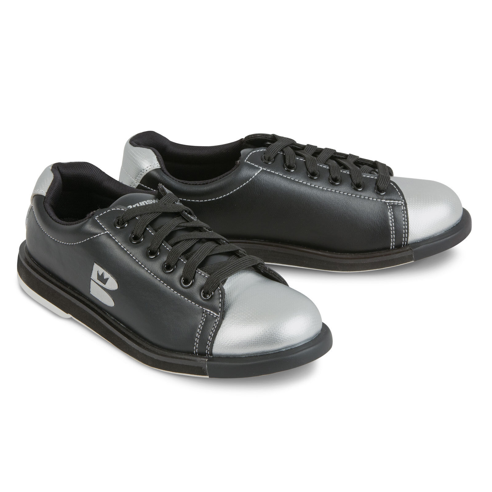Brunswick Tzone Men's Bowling Shoes Black Silver