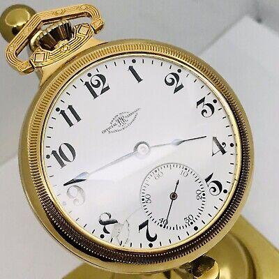 Hard to Find 1905 Ball Hamilton 999H 18S 17J Railroad Pocket Watch Great Runner