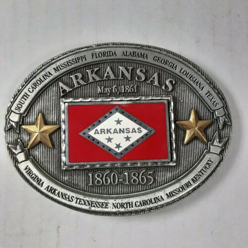 Arkansas CSA with Stars Belt Buckle New Old Stock Enchantment 1999 State
