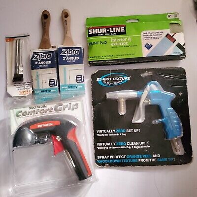 Ez-pro Texture Spray Gun Drywall Paint Sanding Wall Tools Mixed Lot Of 14