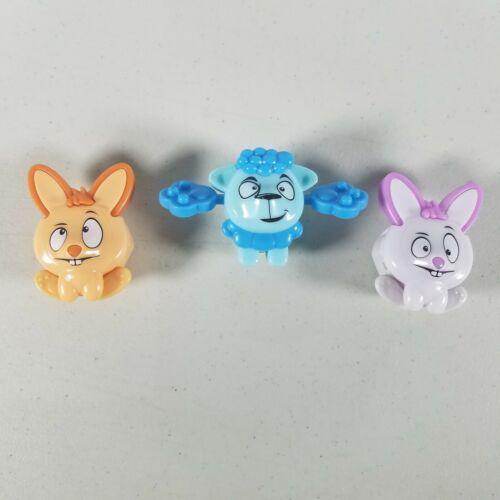 Kinder Joy Magnifying Viewer Toys Lot of 3 Lamb, Purple & Orange Rabbit