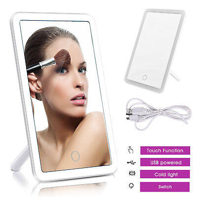 36 LED Touch Screen Makeup Mirror Tabletop Lighted Cosmetic Vanity Rechargeable