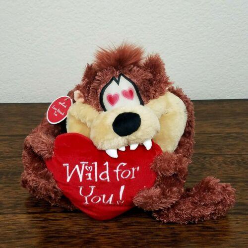 Hallmark Looney Tunes Love-Struck Taz Plush Tasmanian Devil Wild for You! Heart