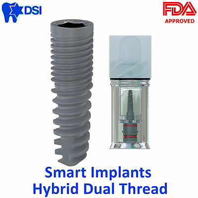 1x Dsi Dental Spiral Smart Dual Thread Implant Sterile Internal Hex Fda Approved