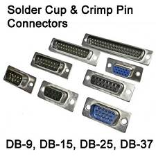 DB9, DB15, HP-15, DB25, DB37 Solder Cup & Crimp CONNECTORS