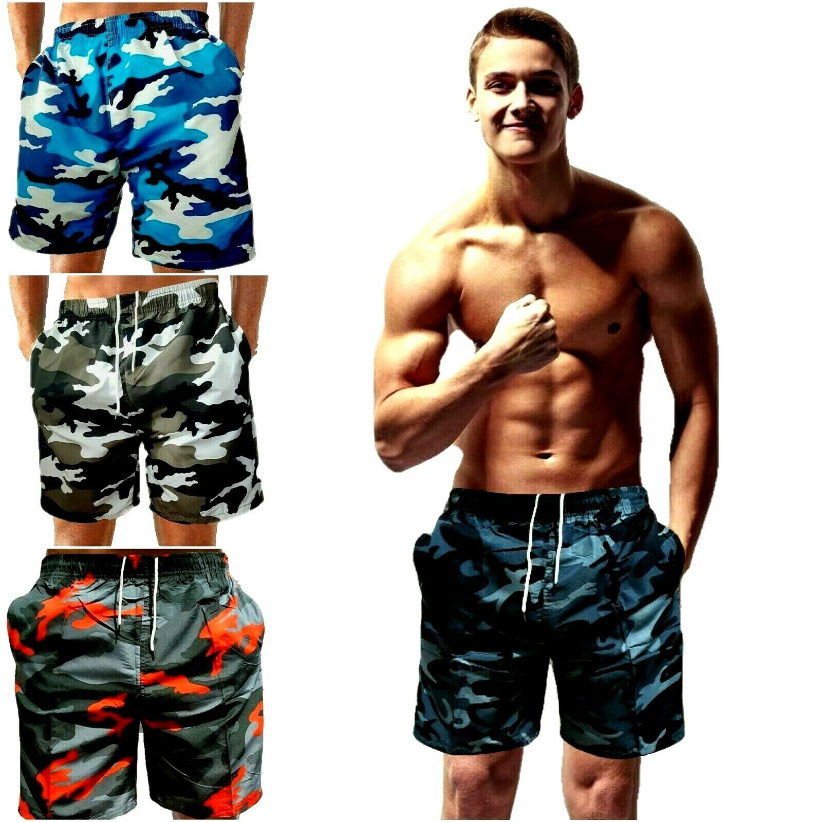 Camouflage Badeshorts Badehose Shorts Herren Männer Bermuda Shorts Sport Men  74