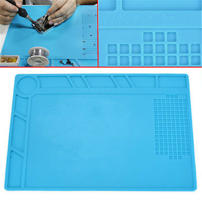 Silicone Heat Insulation Desk Pad Mat Soldering Station Phone Repair Maintenance