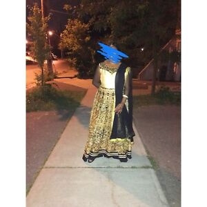Black and Gold Anarkali (Indian Outfit)