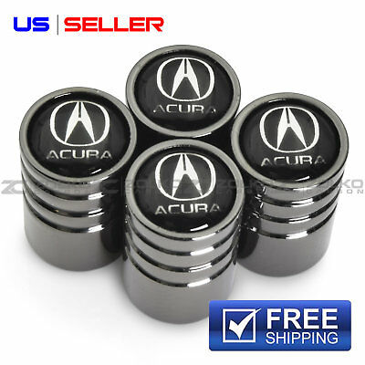 VALVE STEM CAPS WHEEL TIRE BLACK FOR ACURA VE28 - US SELLER