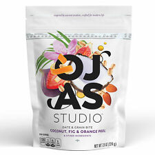 OJAS studio Date & Grain Bites, Coconut, Fig, and Orange Peel, 7.9 oz Bag