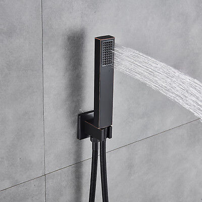 Oil Rubbed Bronze Square Handheld Shower Wall Mount High Pressure Hand Sprayer