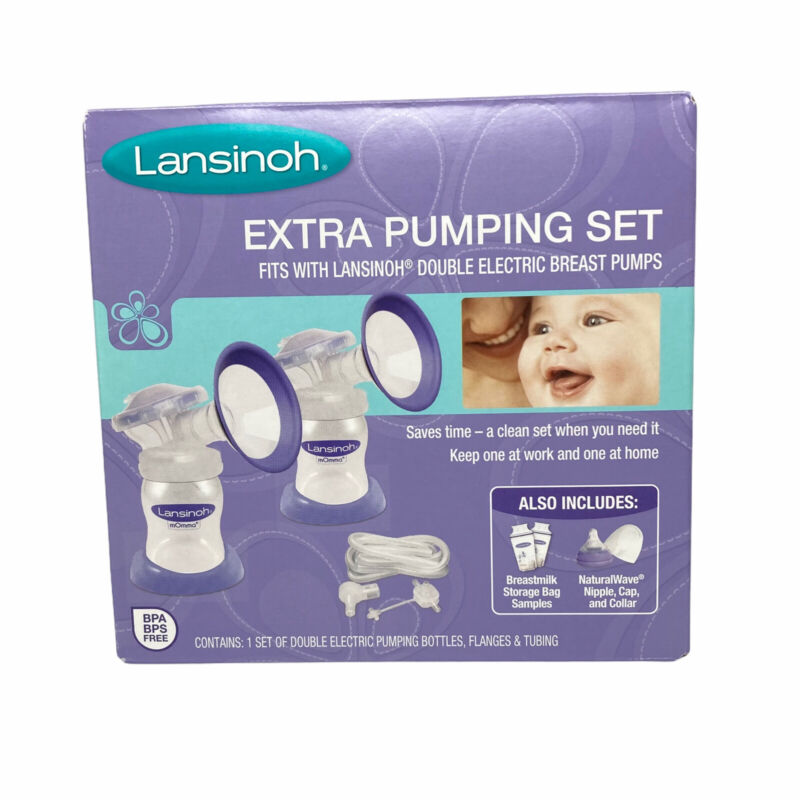 Lansinoh Extra Pumping Set Double Electric Pumping Bottles Breast Pump