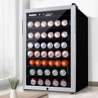 150 Cans Mini Fridge Beverage Cooler Soda Beer Bar 4.5 Cu.ft. Stainless Steel