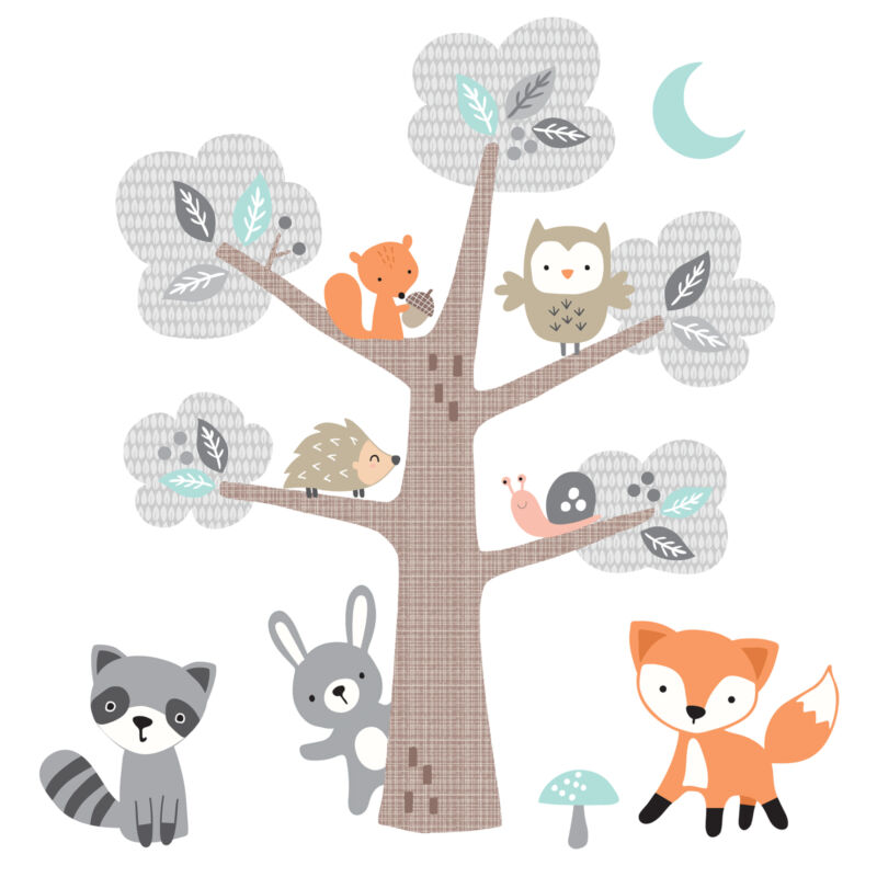 Bedtime Originals Woodland Friends Forest Animals with Tree Wall Decals