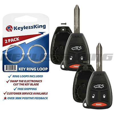 - 2 Replacement Remote Key Fob Shell Pad Case for 2005 2006 2007 Chrysler 300