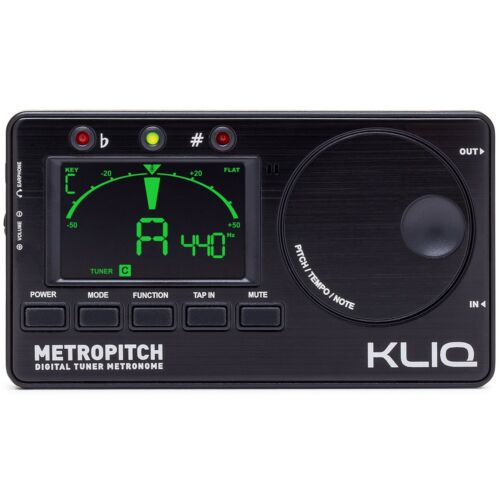 KLIQ MetroPitch - Digital Tuner Metronome for All Instruments, Black